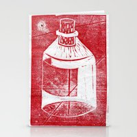 whisky Stationery Cards featuring Ol' Whisky Bottle by Shane Haarer