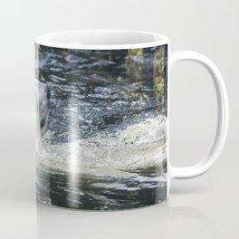 White Bear Swimming Coffee Mug