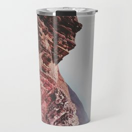 Person-like mountain formation Travel Mug
