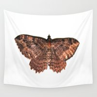 moth Wall Tapestries featuring moth by Wet Jesus