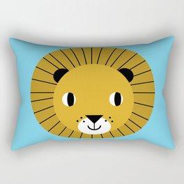 Lion face cute decor for kids boys and girls nursery kids room Rectangular Pillow