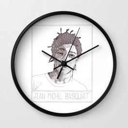 Jean-Michel Basquiat Portrait Wall Clock