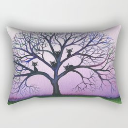 Kennewick Whimsical Cats in Tree Rectangular Pillow