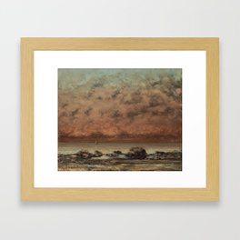 Gustave Courbet The Black Rocks at Trouville 18651866 Painting Framed Art Print