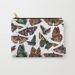 summer butterflies multi white Carry-All Pouch