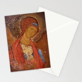 Saint Michael Icon  by Andrei Rublev Stationery Cards