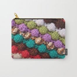 Bobbly colourful knitting Carry-All Pouch