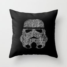 Lines of Trooper Throw Pillow
