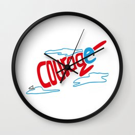 Courage superhero - inspiring Wall Clock