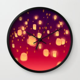 Floating Lanterns Wall Clock