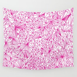 Pure Geometry Pink Wall Tapestry