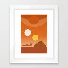 Tatooine Framed Art Print