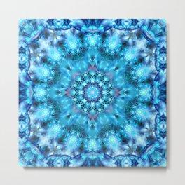 Cosmic Window Mandala Metal Print