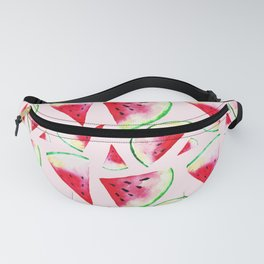 Watercolor Watermelon Slice Pattern Fanny Pack