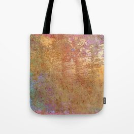 Pop Painted Pattern:  Gold on Gold with pink watercolor abstract ornament woodgrain Tote Bag