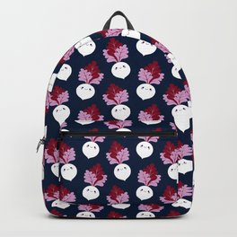 Cute white beetroots Backpack