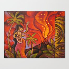 Lava Light Dance Canvas Print
