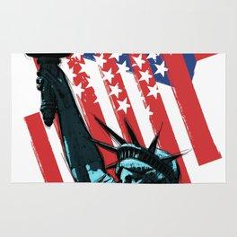 Stars, stripes and Liberty Rug