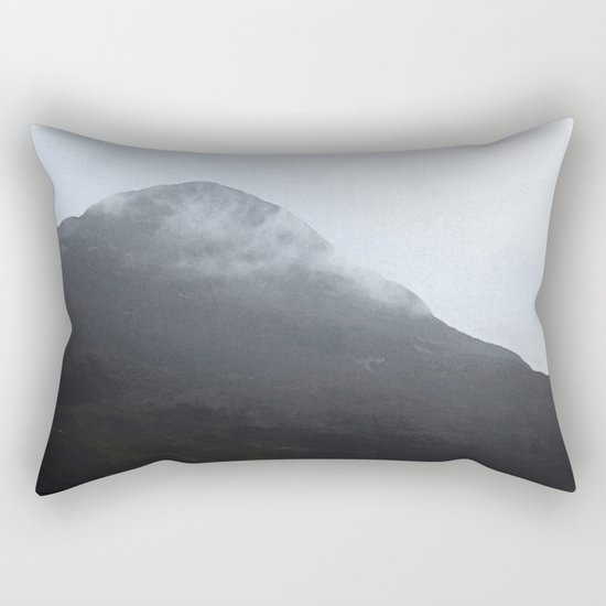 In the crouching mountains Rectangular Pillow