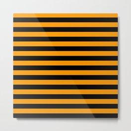Halloween Stripes (orange/black) Metal Print