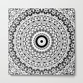 Black and White Mandala 1 Metal Print