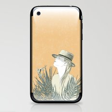 The woman and the bird iPhone & iPod Skin