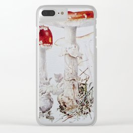 Toadstools Clear iPhone Case