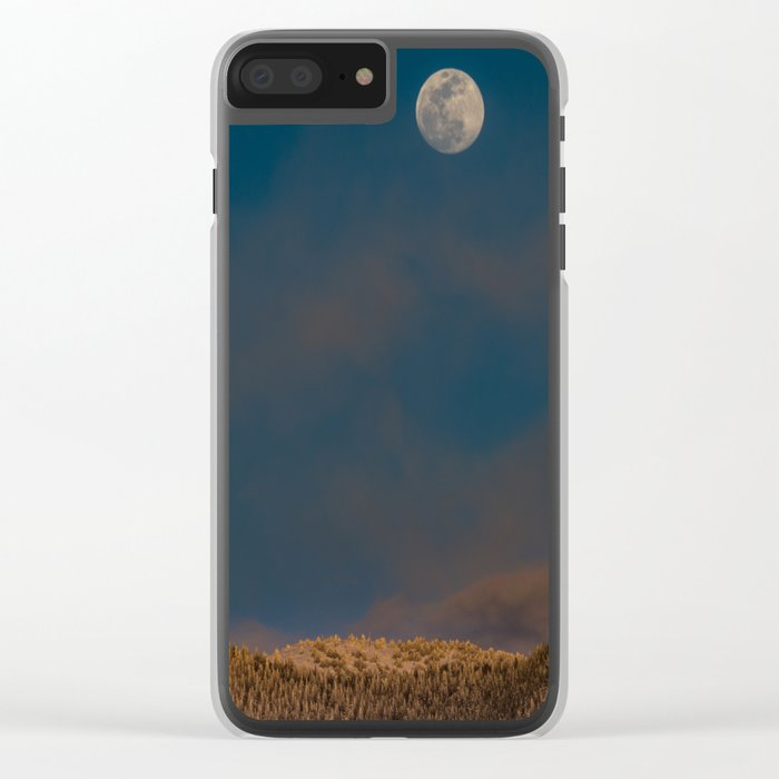 Colorado Moonrise Clear iPhone Case
