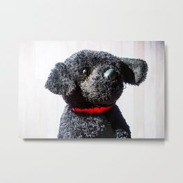 Stuffed Animal Puppy Portrait 3 Metal Print