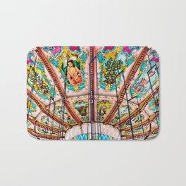 Victorian Carousel Swings Art Detail Bath Mat