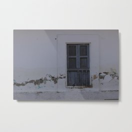 Gray Window With a Shutter Metal Print