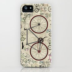 Love Fixie Road Bike Slim Case iPhone (5, 5s)