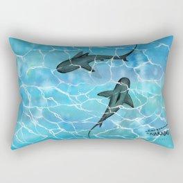 friendly waters Rectangular Pillow