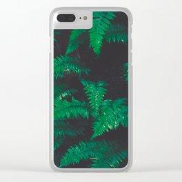 PNW Ferns Clear iPhone Case