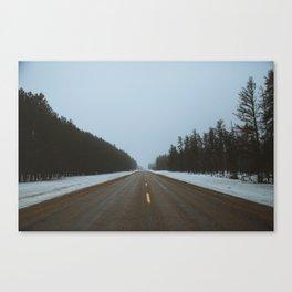 foggy highway Canvas Print