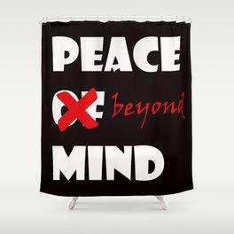 Peace beyond mind Shower Curtain