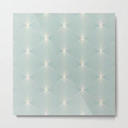 Geometric Orb Pattern IX Metal Print