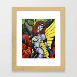 Butterfly Lady 1 Framed Art Print