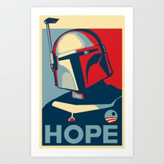 Boba Fett for president  Art Print