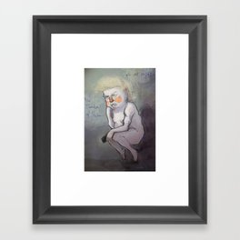 Trump at Night Framed Art Print