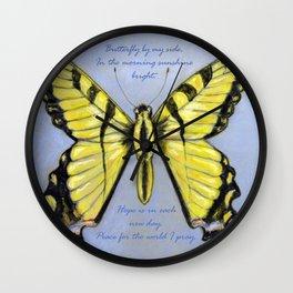Yellow Dragontail Wall Clock