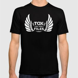 Tox Files - White on Black T-shirt
