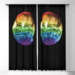 Rainbow Mirrored 1970s Disco Ball Blackout Curtain