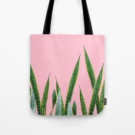 Snake plants with pink Tote Bag