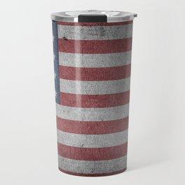 USA American Flag Rugged Travel Mug