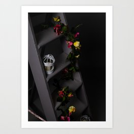 Flowers of night Art Print