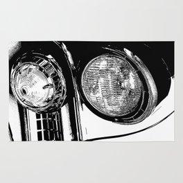 Vintage Car Taillights Rug