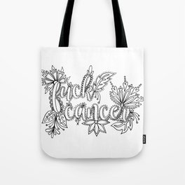 Fuck Cancer Adult Coloring, Sweary Adult Coloring Tote Bag