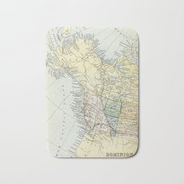 Vintage Map of Canada Bath Mat