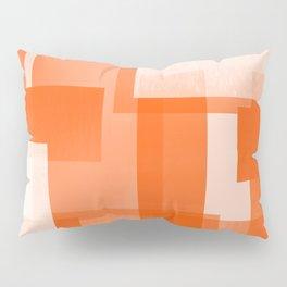 Modern Abstract No. 23 | Orange Pillow Sham